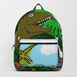 Dinosaur Jungle Art Print Backpack