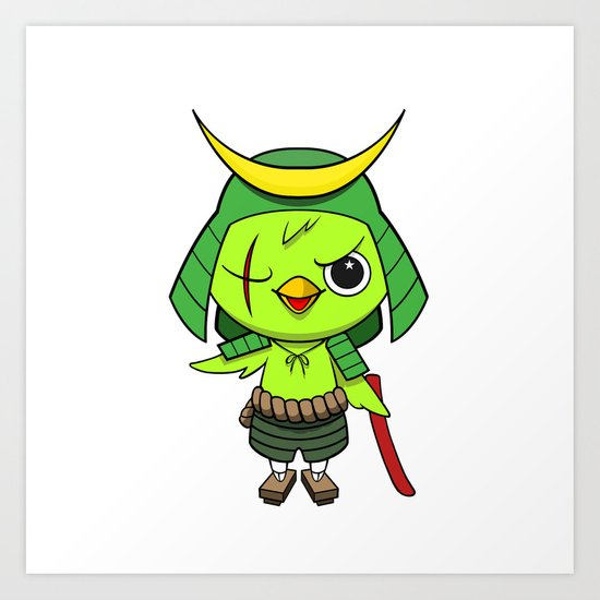 Samurai Bird Art Print