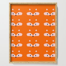 Fox faces Serving Tray