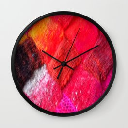 Red Entrelac Wall Clock