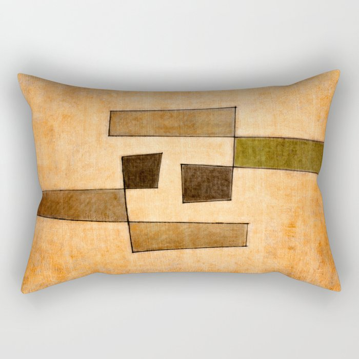 Protoglifo 03 'brown dance' Rectangular Pillow