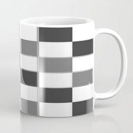 Slate & Gray Checkers / Checkerboard Coffee Mug