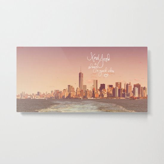 NEW YORK NEW YORK Metal Print