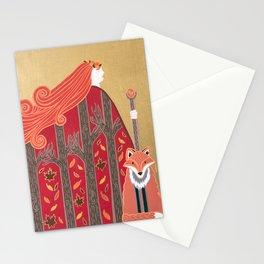 Fall goddess Stationery Cards