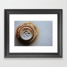 R Bolted Framed Art Print