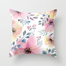 flower watercolor 1 Throw Pillow