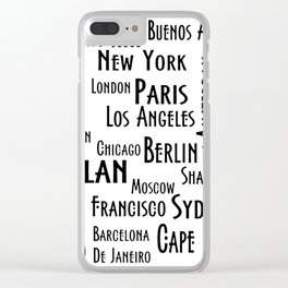 New York, Los Angeles and others city . Fashion Chic Home Decor Graphicdesign Clear iPhone Case