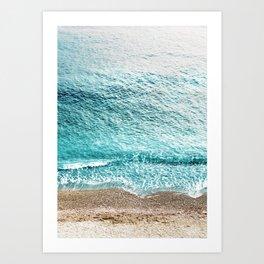 CLEAR BLUE SEA in Greece Art Print