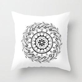 Quill Mandala Throw Pillow
