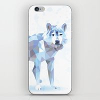 low poly iPhone & iPod Skins featuring Low Poly Wolf by idrux