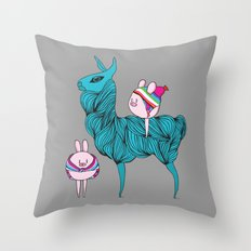 Llama & friends Throw Pillow