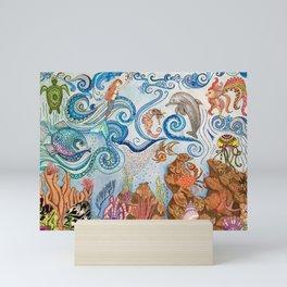 Ocean Zentangle Mini Art Print
