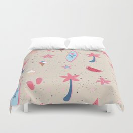Beach Pattern Duvet Cover