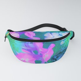 Garden Flowers in Pink, Green and Blue Fanny Pack