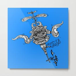 Flutterbiggle  Metal Print