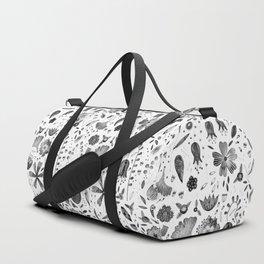 Inky Autumn Hedgerow Duffle Bag