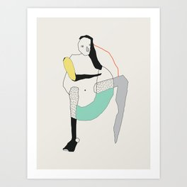 Talks Art Print