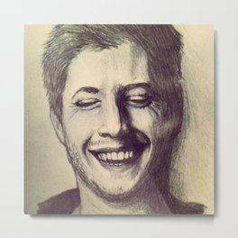 Jensen Ackles Laughing Metal Print