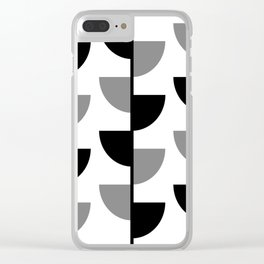 Climbing High - Black & Grey on White - Slices Series Clear iPhone Case