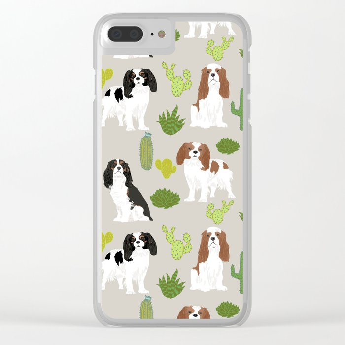 Cavalier King Charles Spaniel must have gift accessories for dog breed owner king charles dog Clear iPhone Case