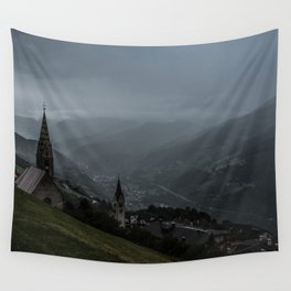 Storming Mountains Wall Tapestry