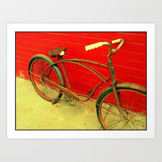 The Old Bike Art Print