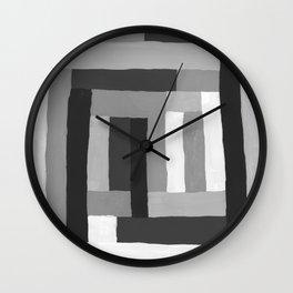 Painted Color Blocks Wall Clock