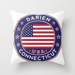 Connecticut, Darien Throw Pillow