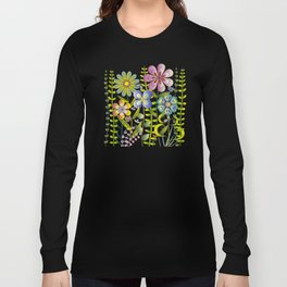 Petty Flowers Pattern 2 Long Sleeve T-shirt