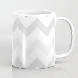 Gradient Grey Chevron on White Coffee Mug