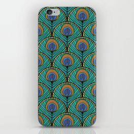 Glitzy Peacock Feathers iPhone Skin