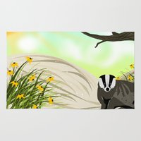 badger Area & Throw Rugs featuring Badger by TailorMade:ART