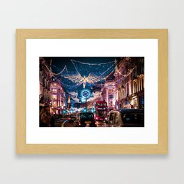 London Christmas Lights (Color) Framed Art Print