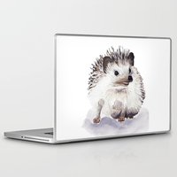 hedgehog Laptop & iPad Skins featuring Hedgehog by Bridget Davidson