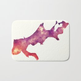 New Orleans Louisiana city watercolor map in front of a white background Bath Mat