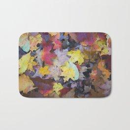 Carpet of Autumn Leaves Painting Style Bath Mat