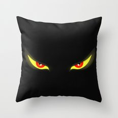 Evil Eyes Throw Pillow