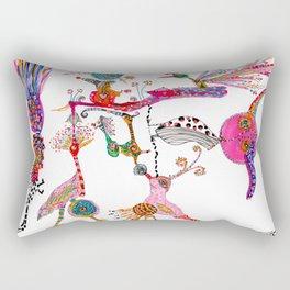 Funky Wondering Birds Rectangular Pillow