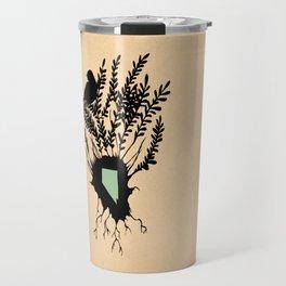 Nevada - State Papercut Print Travel Mug