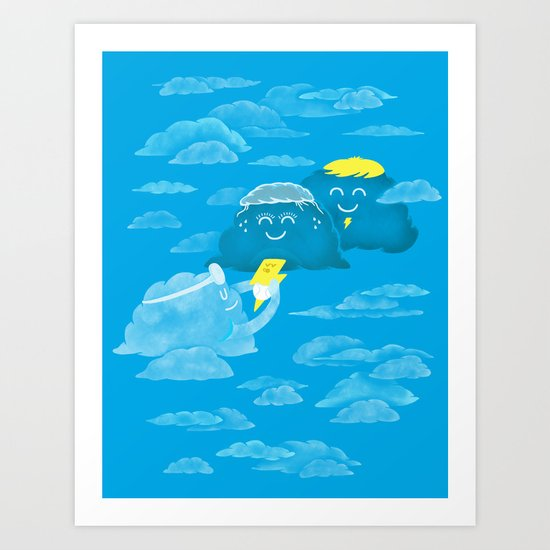 Cloudy delivery Art Print