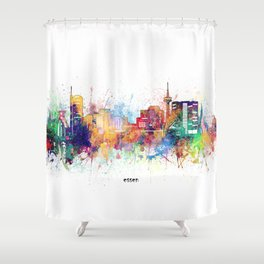 essen skyline artistic Shower Curtain