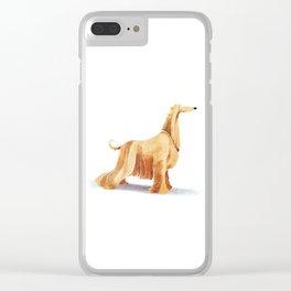 Afghan hound Clear iPhone Case