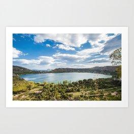 Averno lake,Capania,Italy Art Print