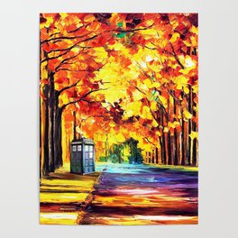 Tardis Stay Alone Poster