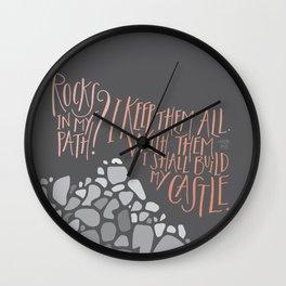 Rocks In My Path Wall Clock