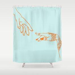 Henna hands Shower Curtain