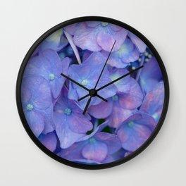 Beautiful Hydrangea macrophylla Wall Clock