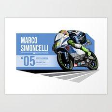 Marco Simoncelli - 2005 Jerez de la Frontera Art Print
