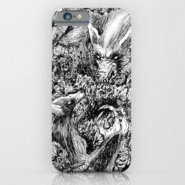 Werewolves Vs Zombies Undead Massacre Art iPhone Case