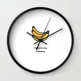JUST A PUNNY BANANA JOKE! Wall Clock